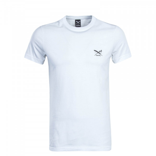 Herren T-Shirt Chestflag White