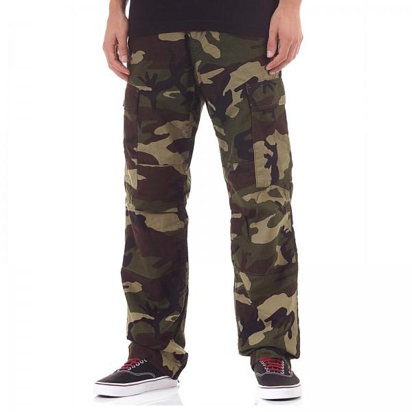 Herren Cargohose - Camouflage Combat Green