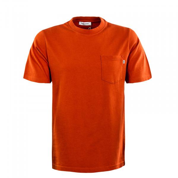 Herren T-Shirt - Bobby Pocket - Blood Orange