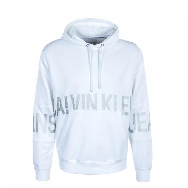 Herren Hoody - Blocking Logo - Bright White