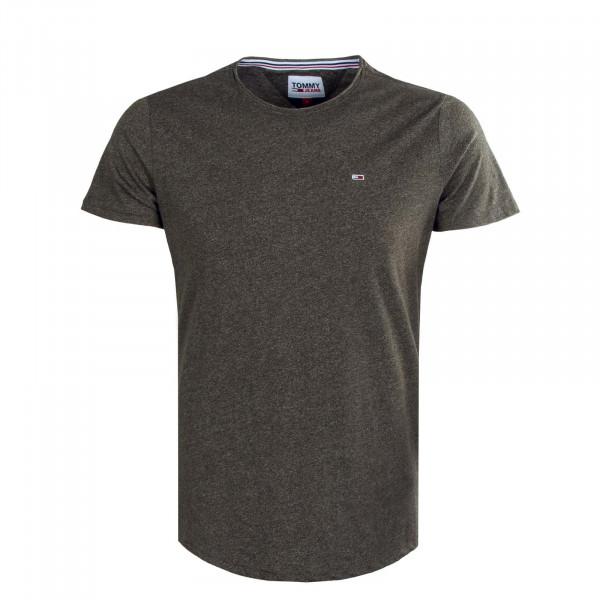 Herren T-Shirt - Slim Jaspe 9586 - Dark Olive