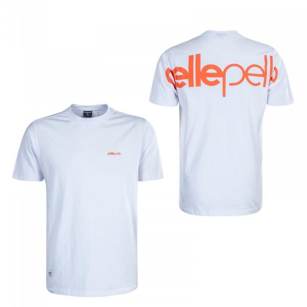 Herren T-Shirt Big Up Logo White Orange