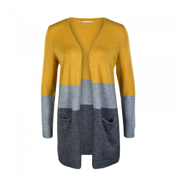 Damen Cardigan Queen Long Golden Yellow