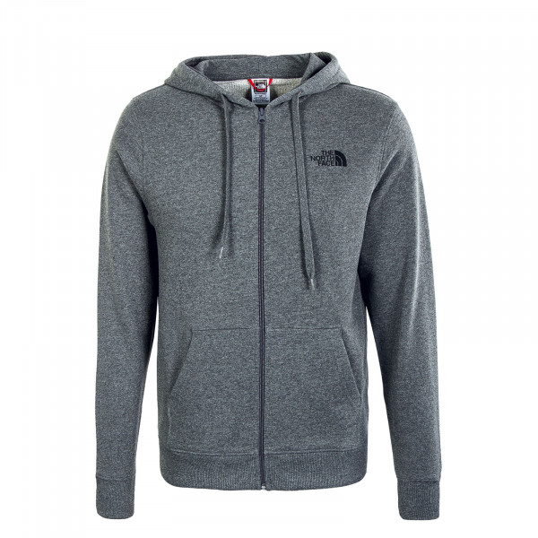 Herren Sweatjacke - Open Gate Full Zip Hoody - Grey Heather