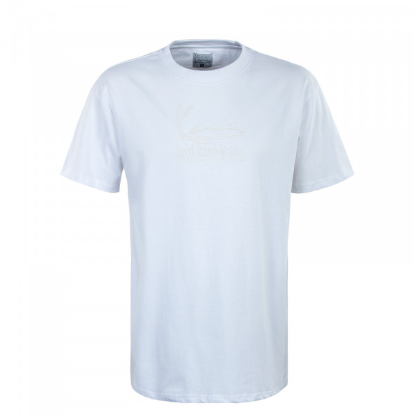 Herren T-Shirt - Signature Karl Kani Jeans - White