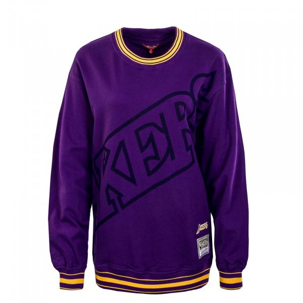 Damen Sweatshirt - Womens Big Face 3.0 Crew LA - purple