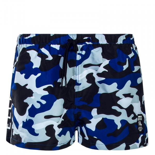 Herren Swim Short - Viale - Camo Blue Black
