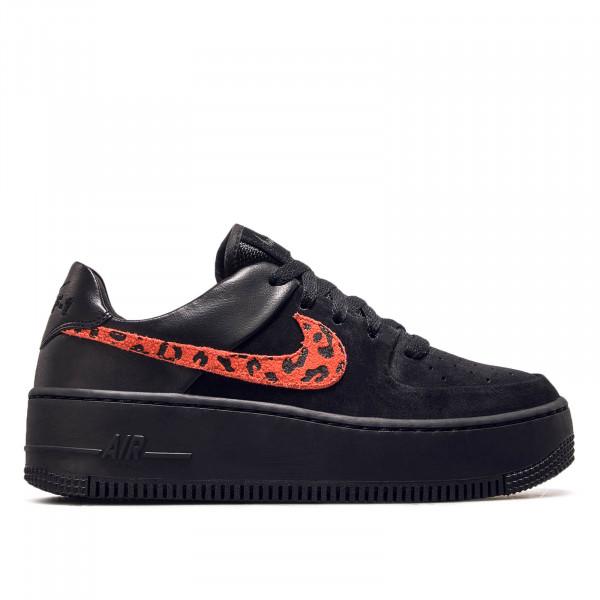 Damen Sneaker Air Force 1 Sage Black Royal Red