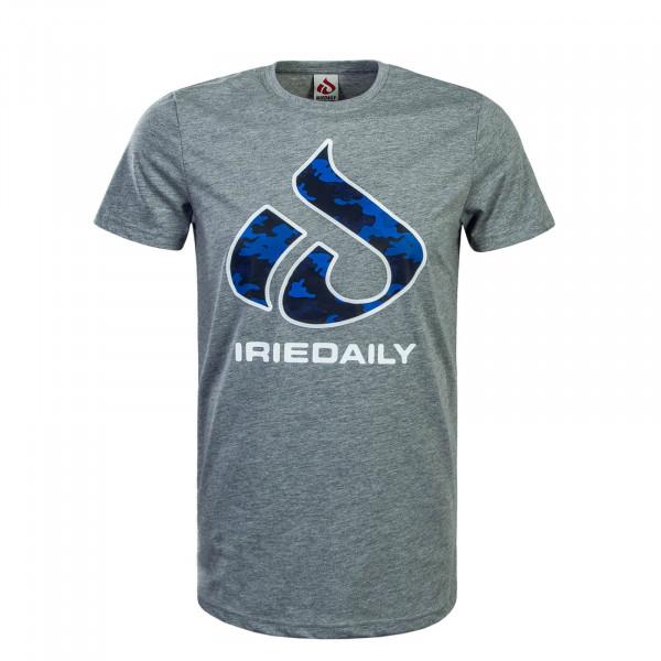 Herren T-Shirt Glyph Relaxed Grey Blue Camouflage