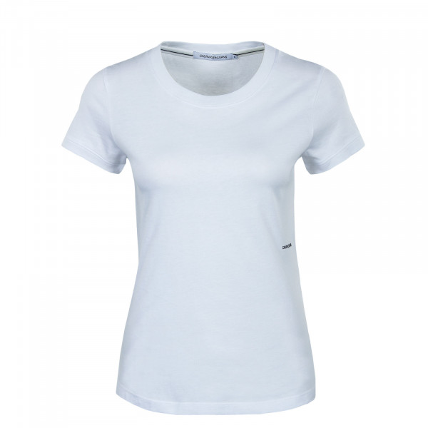 Damen T-Shirt - Micro Branding Off Placed - Bright White