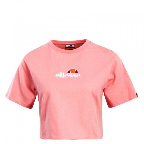 Damen T-Shirt Crop Fireball Pink