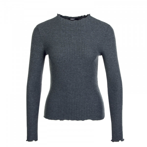 Damen Longsleeve  Emma High Neck Dark Grey
