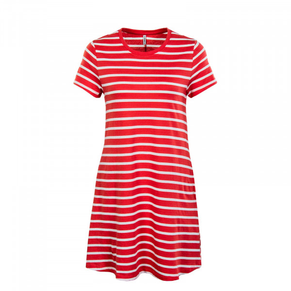 Damen Kleid - May Life Pocket - Cayenne / Stripes