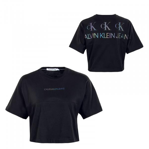 Damen T-Shirt - Back Reflective Logo - Black
