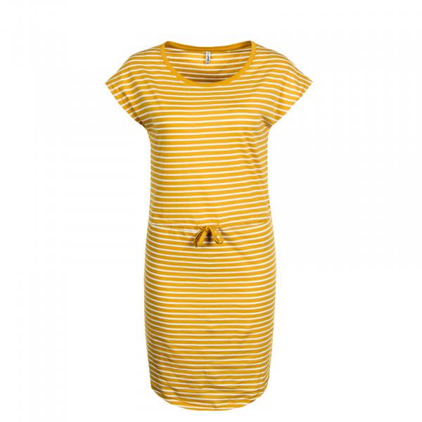 Kleid May Stripe Yellow White