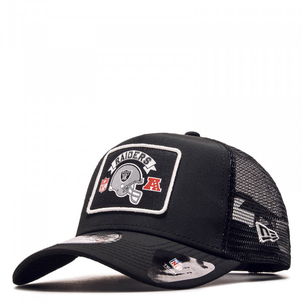 Cap Trucker Raiders Word Black