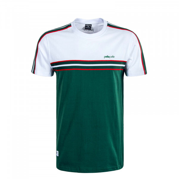 Herren T-Shirt Off Court Tape White Green