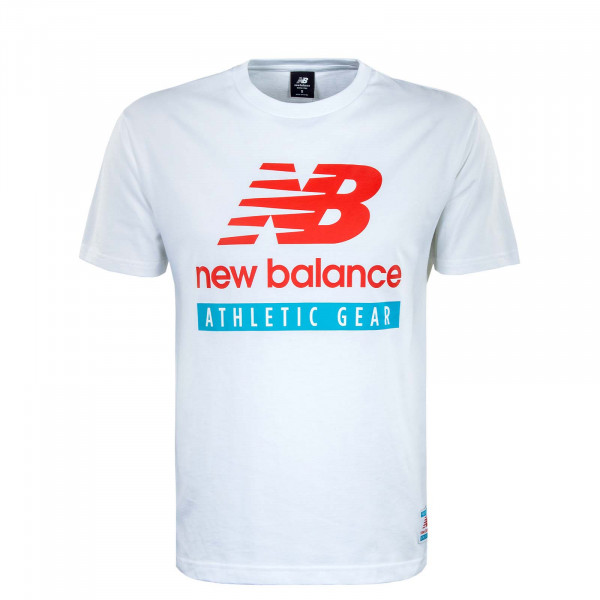 Herren T-Shirt - Essential Logo - White / Red