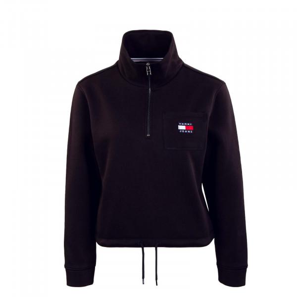 Damen Sweatshirt - Relaxed Badge Quartier Zip 11045 - Black
