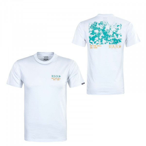Herren T-Shirt - Poppy Field - White