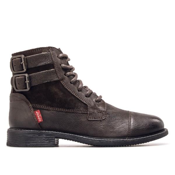 Levis Wmn Boot Maine Lth Dark Brown