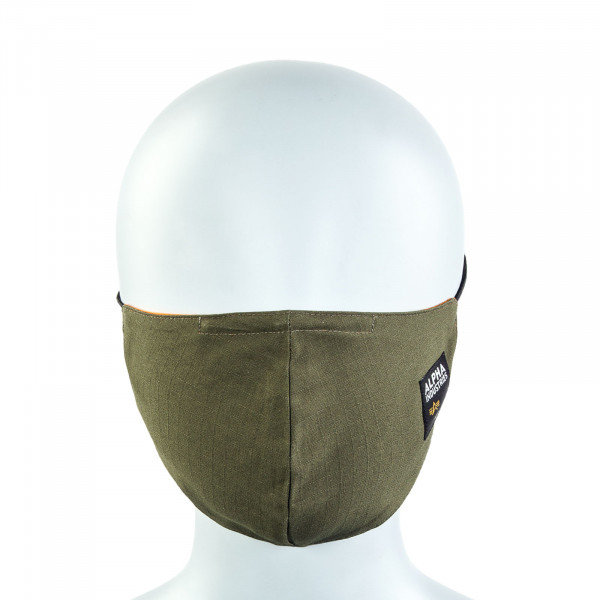 Alltagsmaske - Label Ripstop Face Mask - Dark Olive