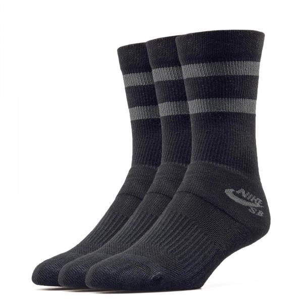 Nike SB Socks SX 5760 3er P Black Grey