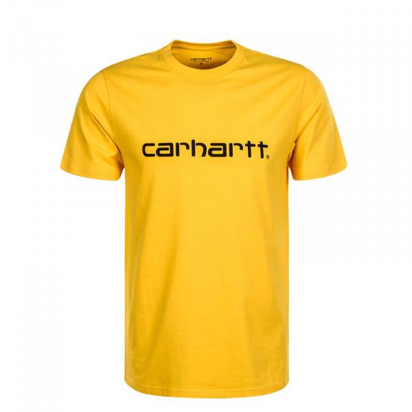 Herren T-Shirt Script Yellow Black