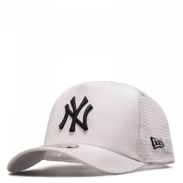 Cap Trucker NY White Black