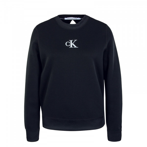 Damen Sweatshirt Silver CK Cut Out Black