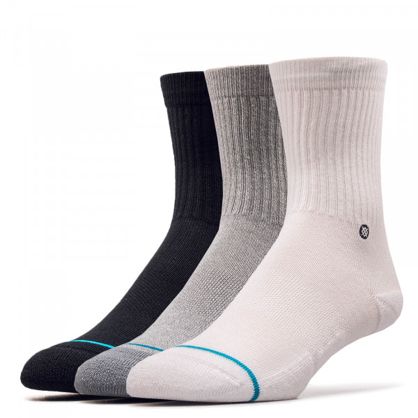 3er-Pack Socken Icon Black White Grey