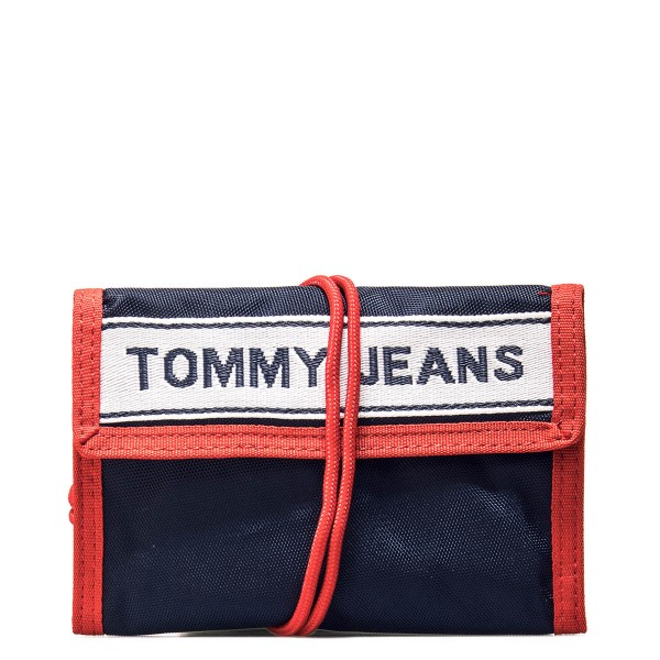 Tommy Wallet Crossover Navy Red