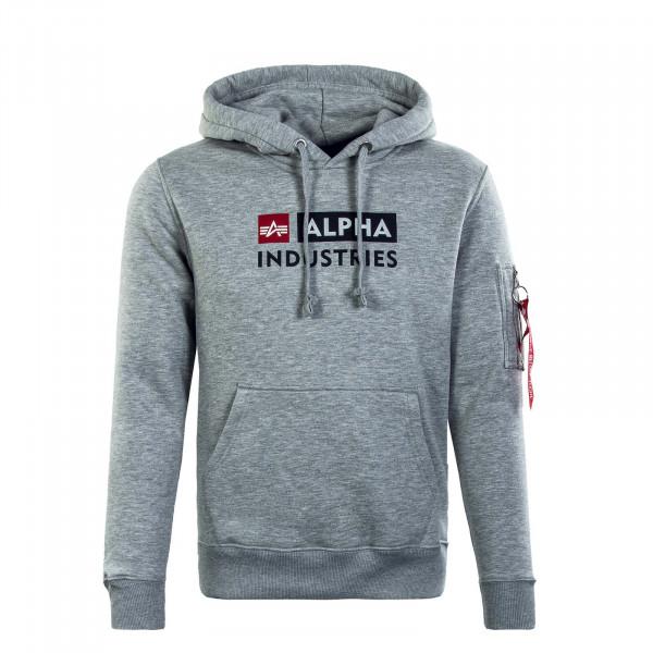 Herren Hoody - Alpha Block-Logo - Grey Heather