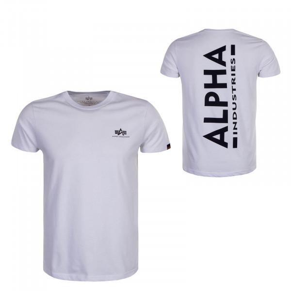 Herren T-Shirt Backprint  White