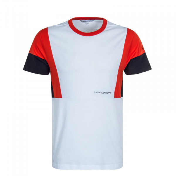 Herren T-Shirt 5288 Color Block White Red