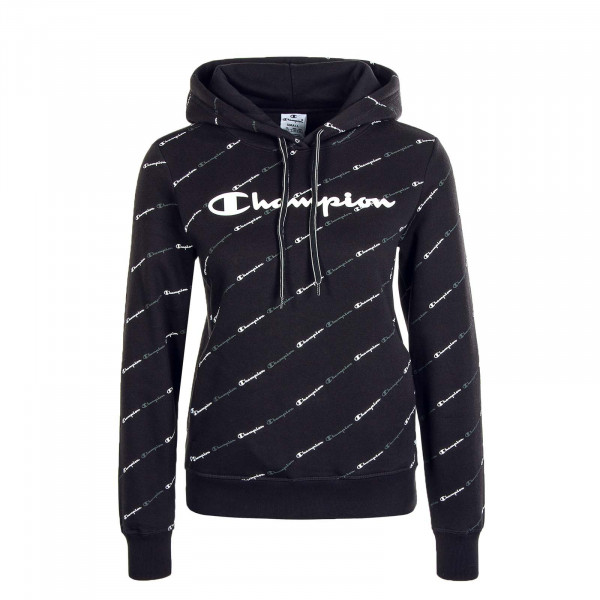 Damen Hoody 113208 Black Allover