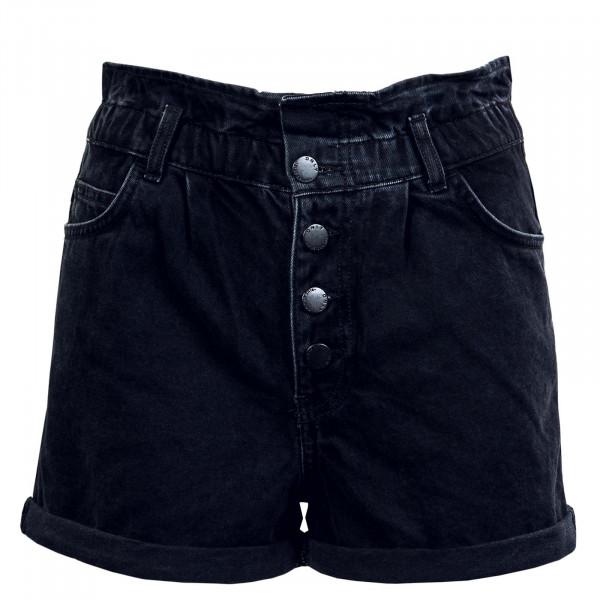 Damen Short - Onlcuba Life Paperbag Dnm - Black