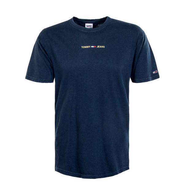Herren T-Shirt - Metallic Linear 9586 - Twilight / Navy