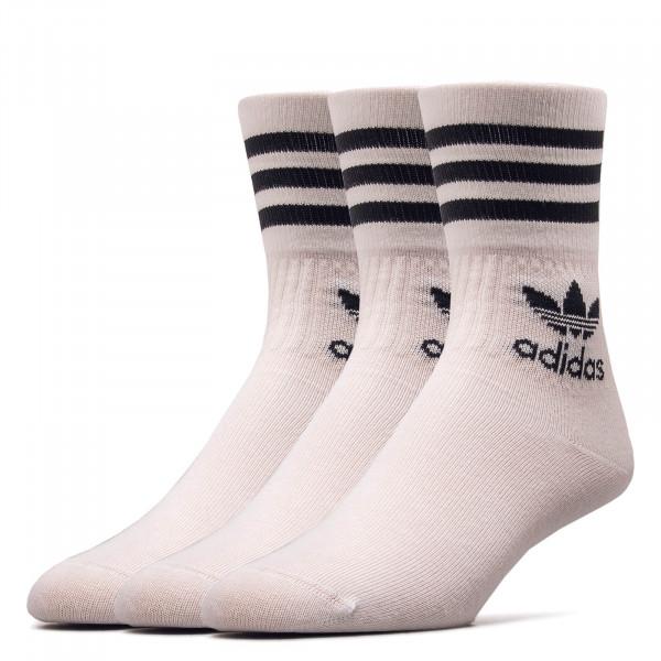 Socken 3er Pack Mid Cut Crew White Black