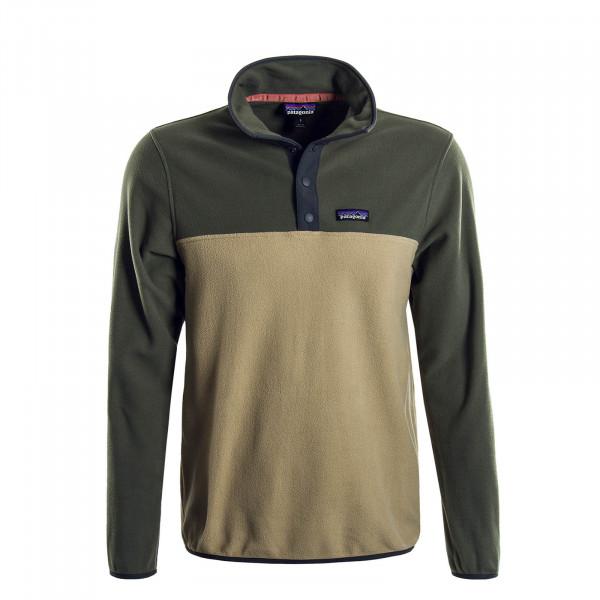 Herren-Sweatshirt Fleece Micro Green Beige