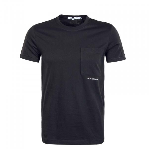 Herren T-Shirt - Micro Branding Pocket - Black