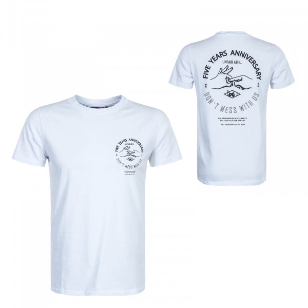 Herren T-Shirt Anniversary White