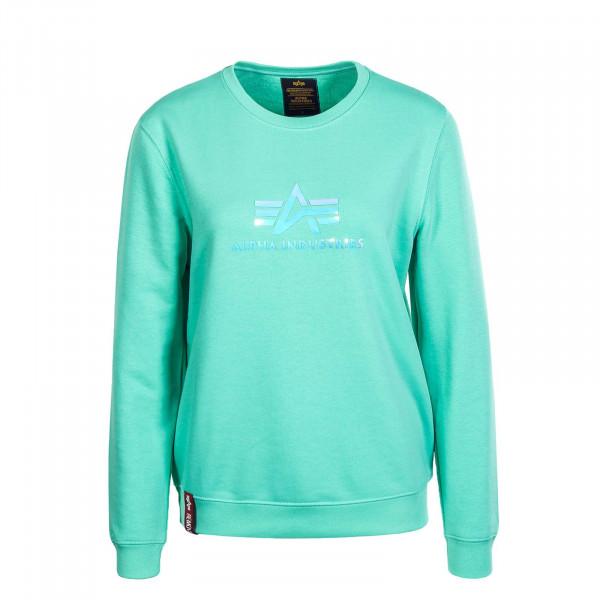 Damen Sweater Rainbow Pastel Mint