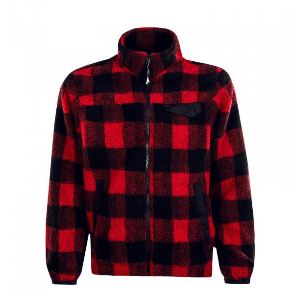 Herren Jacke Monte Karo Fleece Dark Red