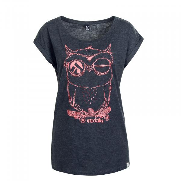 Damen T-Shirt Skateowl 2 Anthrazit