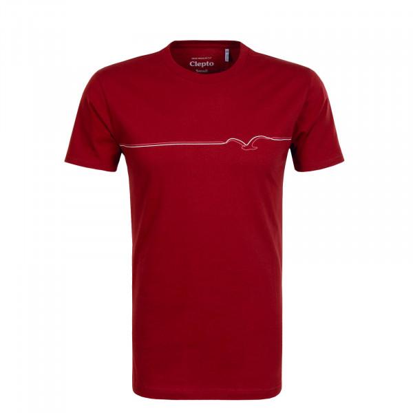 Herren T-Shirt Möwe Lines Bordeaux