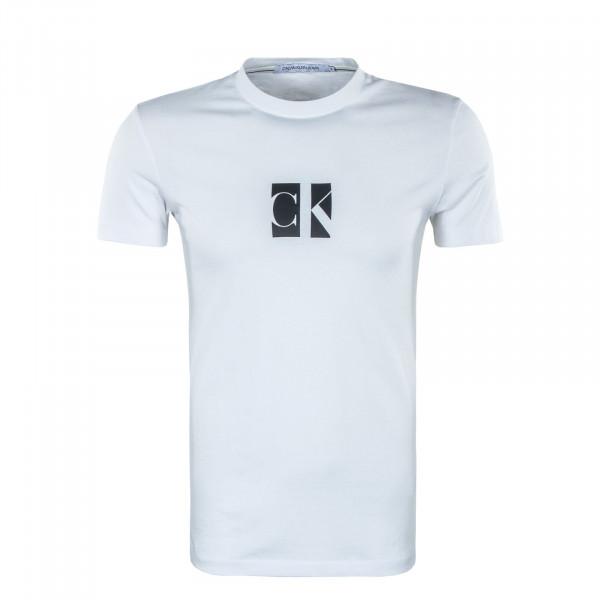 Herren T-Shirt - Small Center CK Box - Bright White