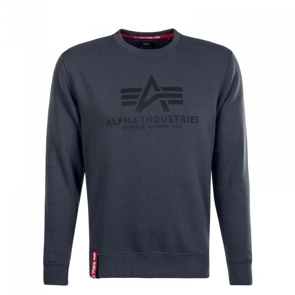 Herren Sweatshirt - Basic - Grey Black