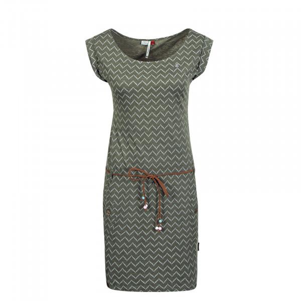 Kleid Tag Zig Zag Olive