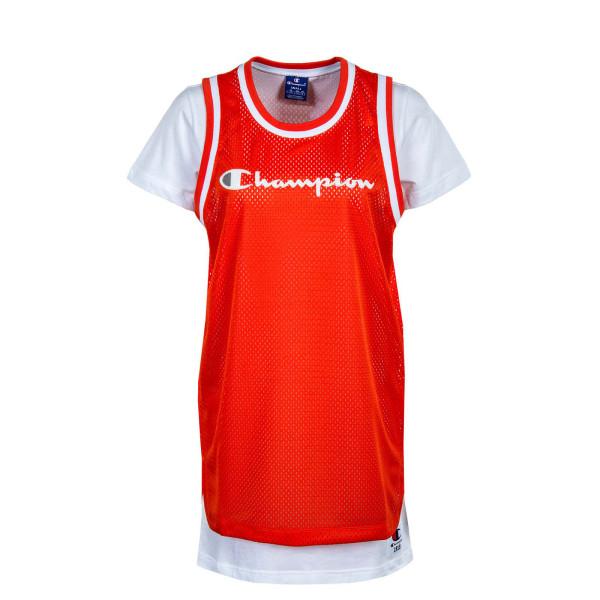 Damen Kleid - 112904 - Orange / White